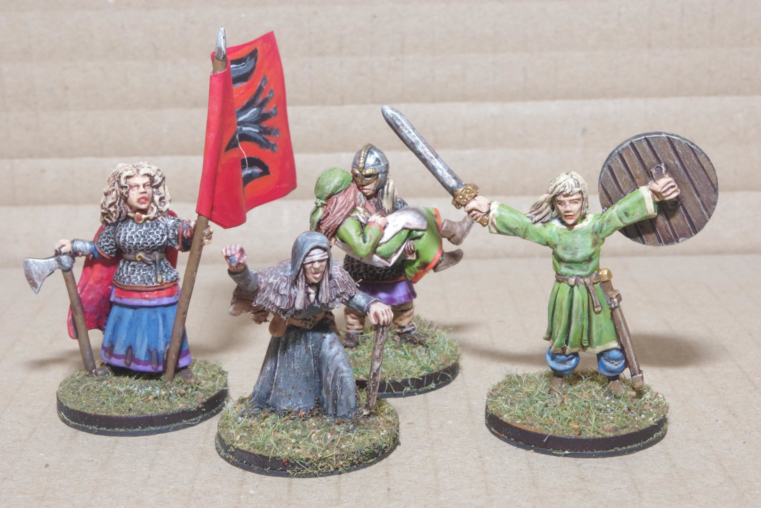 Shieldmaidens from Carole and some rather nice engineers/medics from The Hat