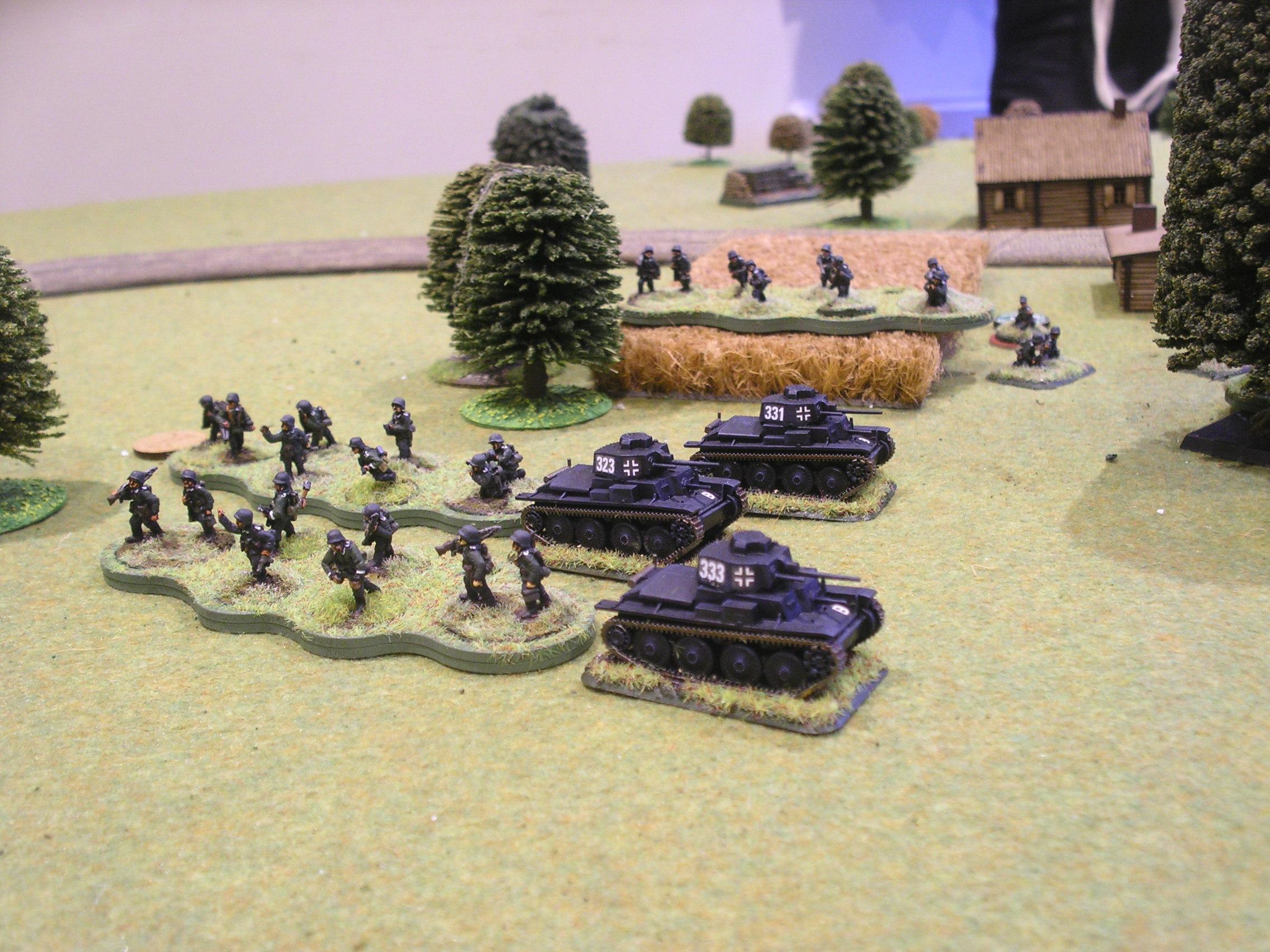 German infantry demonstrating their dressage skills…