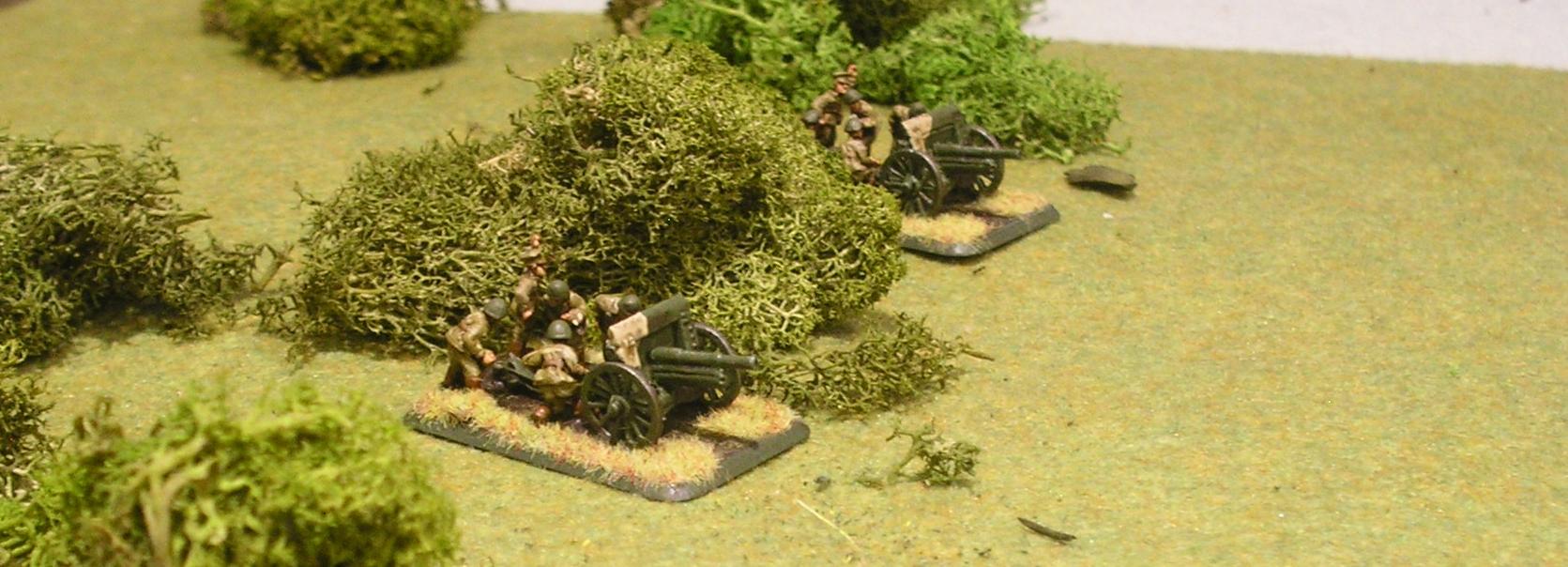 Polish infantry guns in position