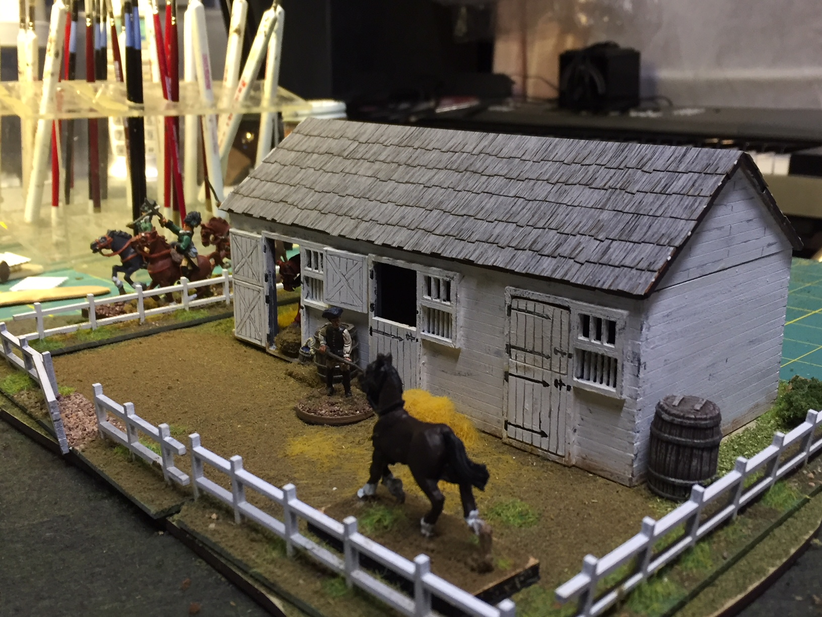 Stable (and horse) from Ed Bowen