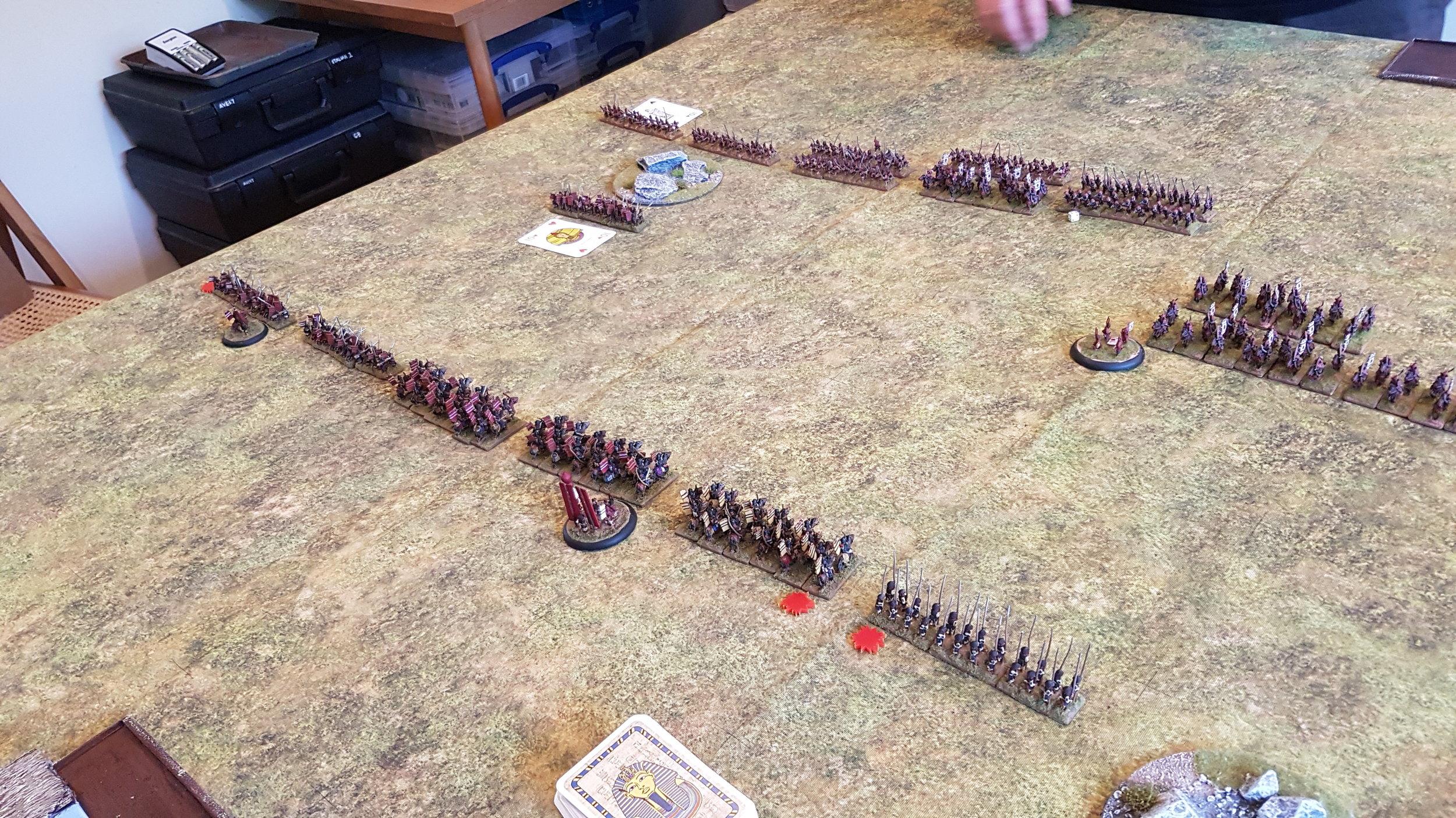 My left flank moves forward