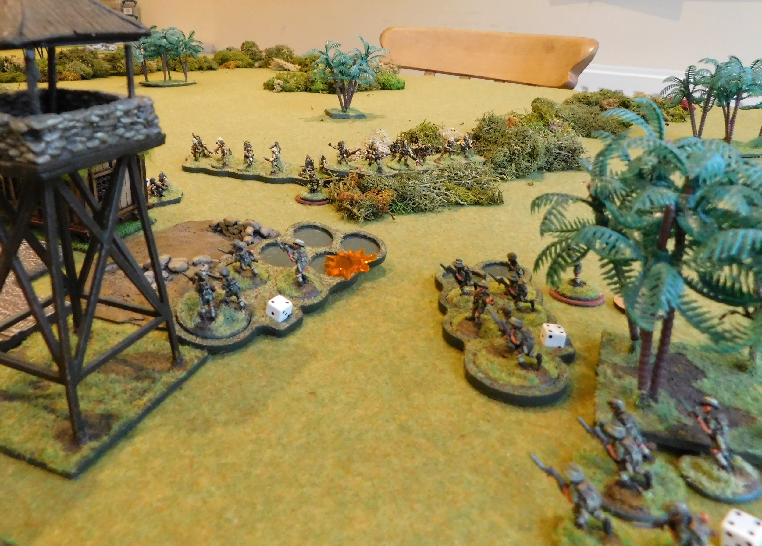 Final Japanese infantry squad deploys to good effect