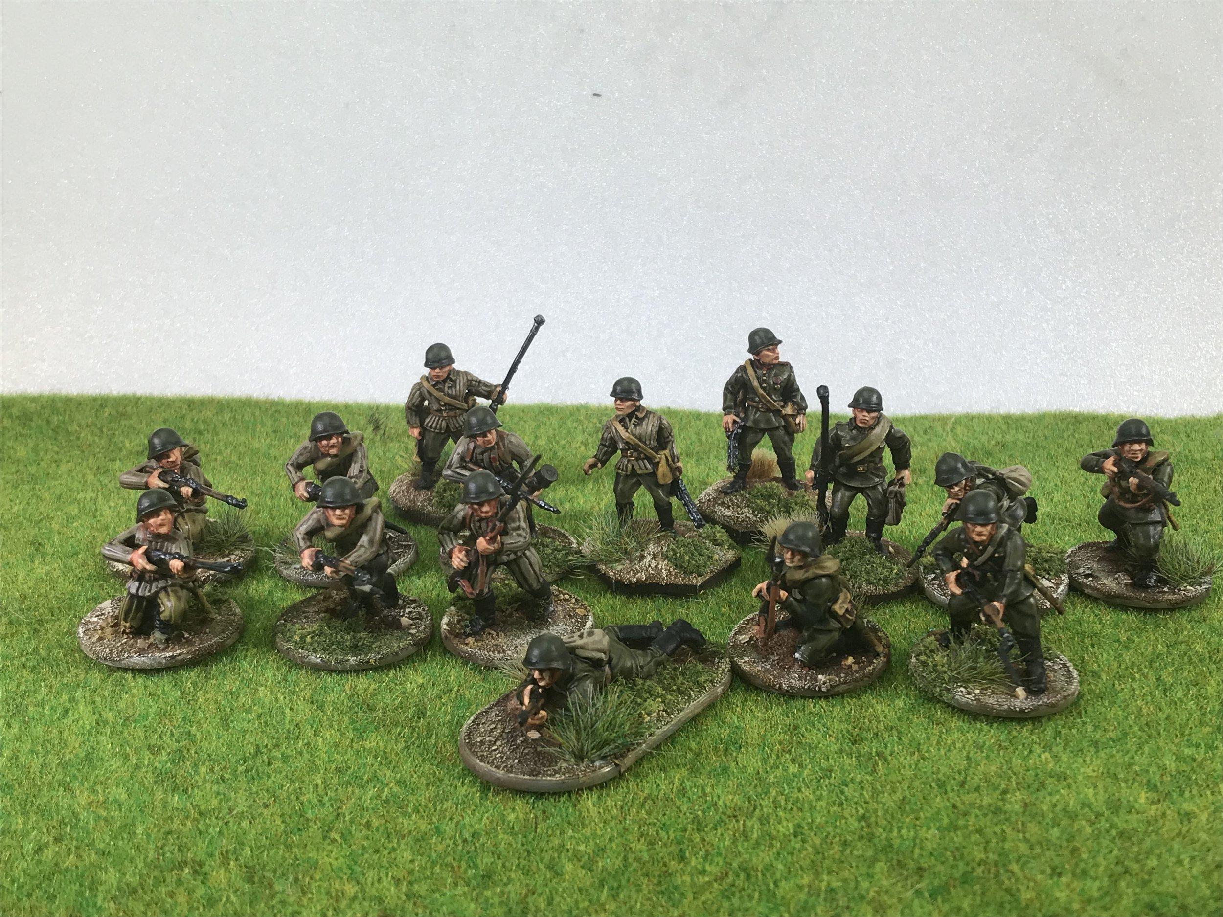 Some of Chris' WW2 Infantry