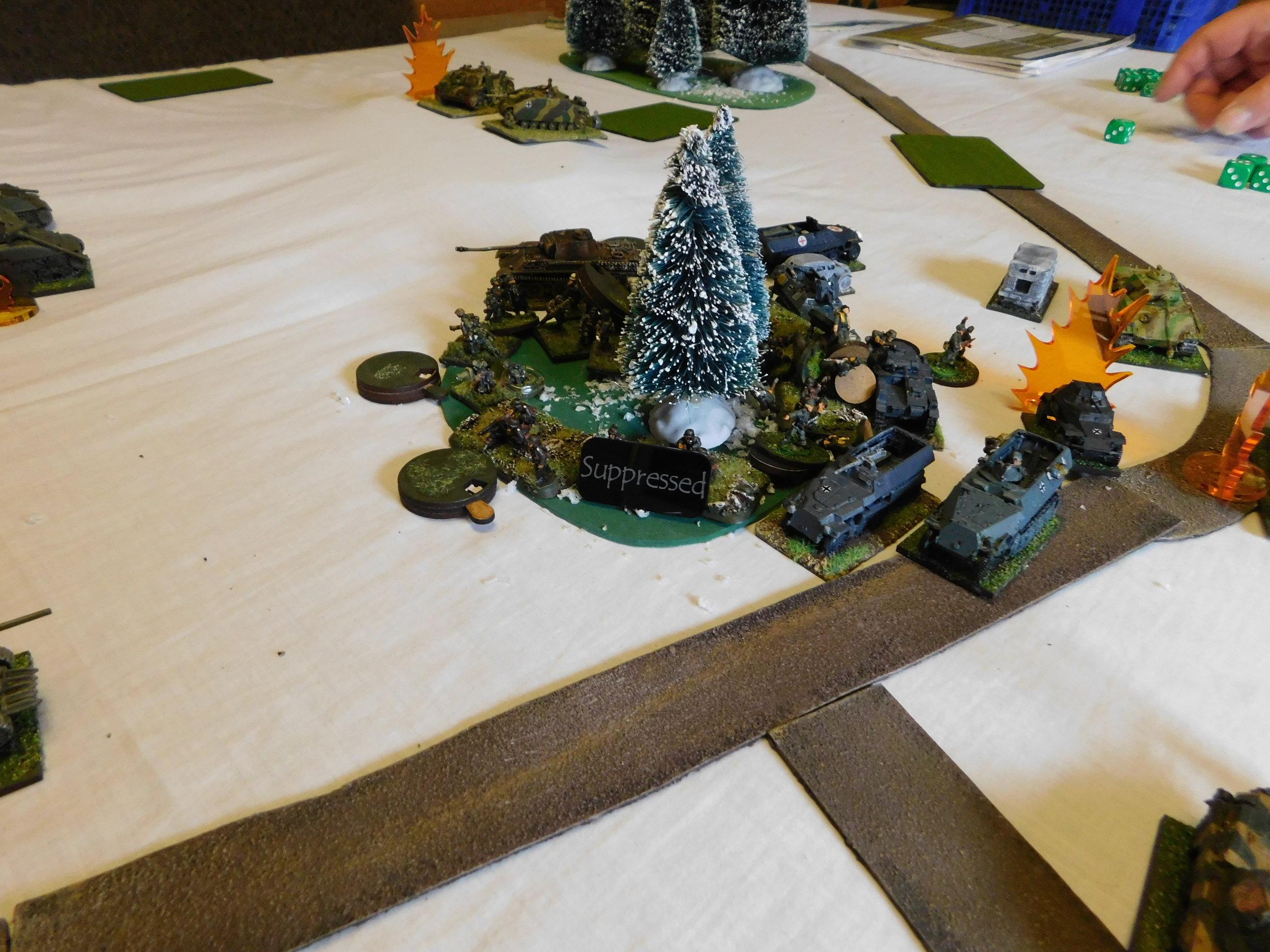 German Infantry Take A Pounding