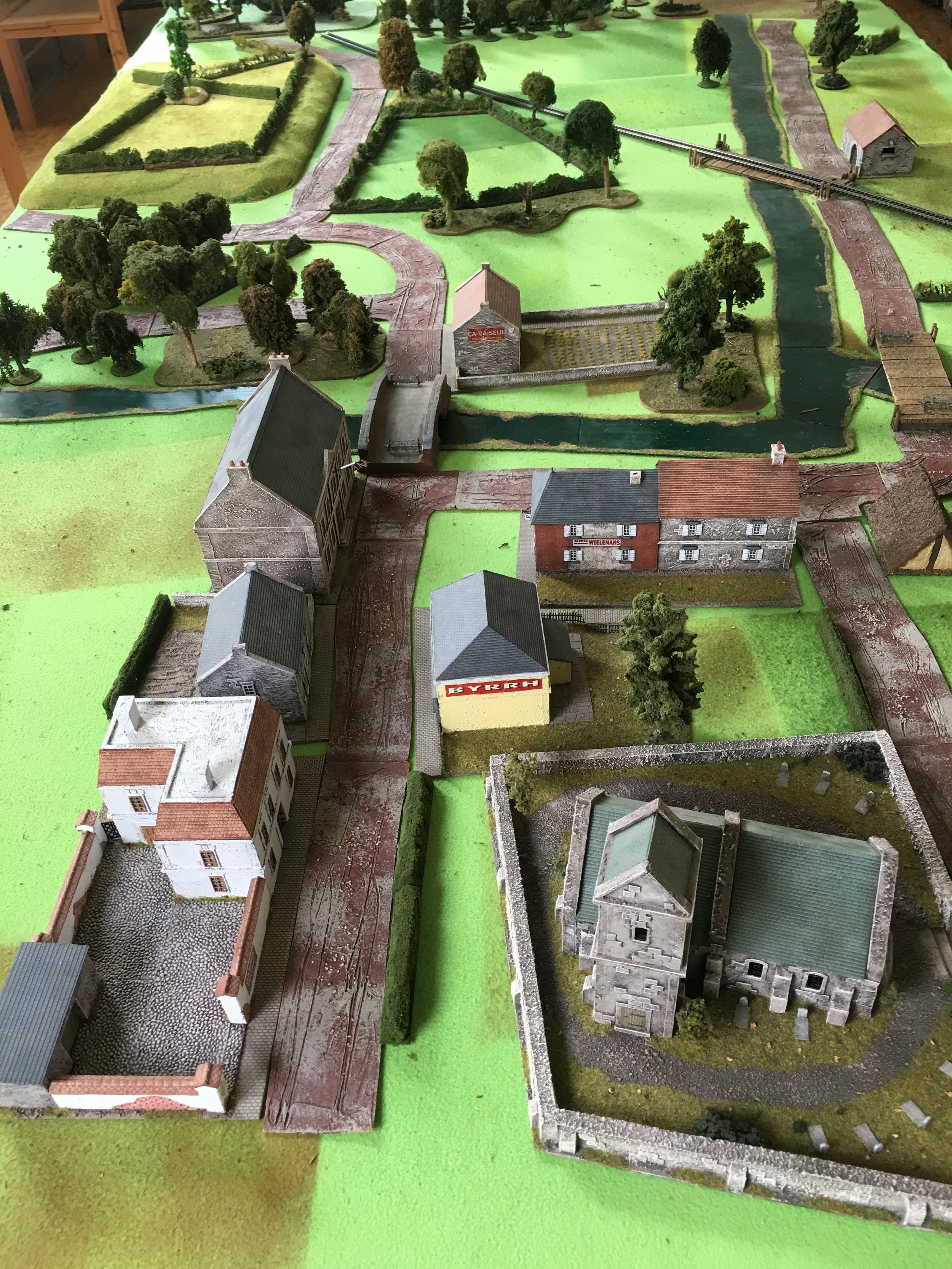 Before the battle. The outskirts of Pevensy with the two vital bridges.