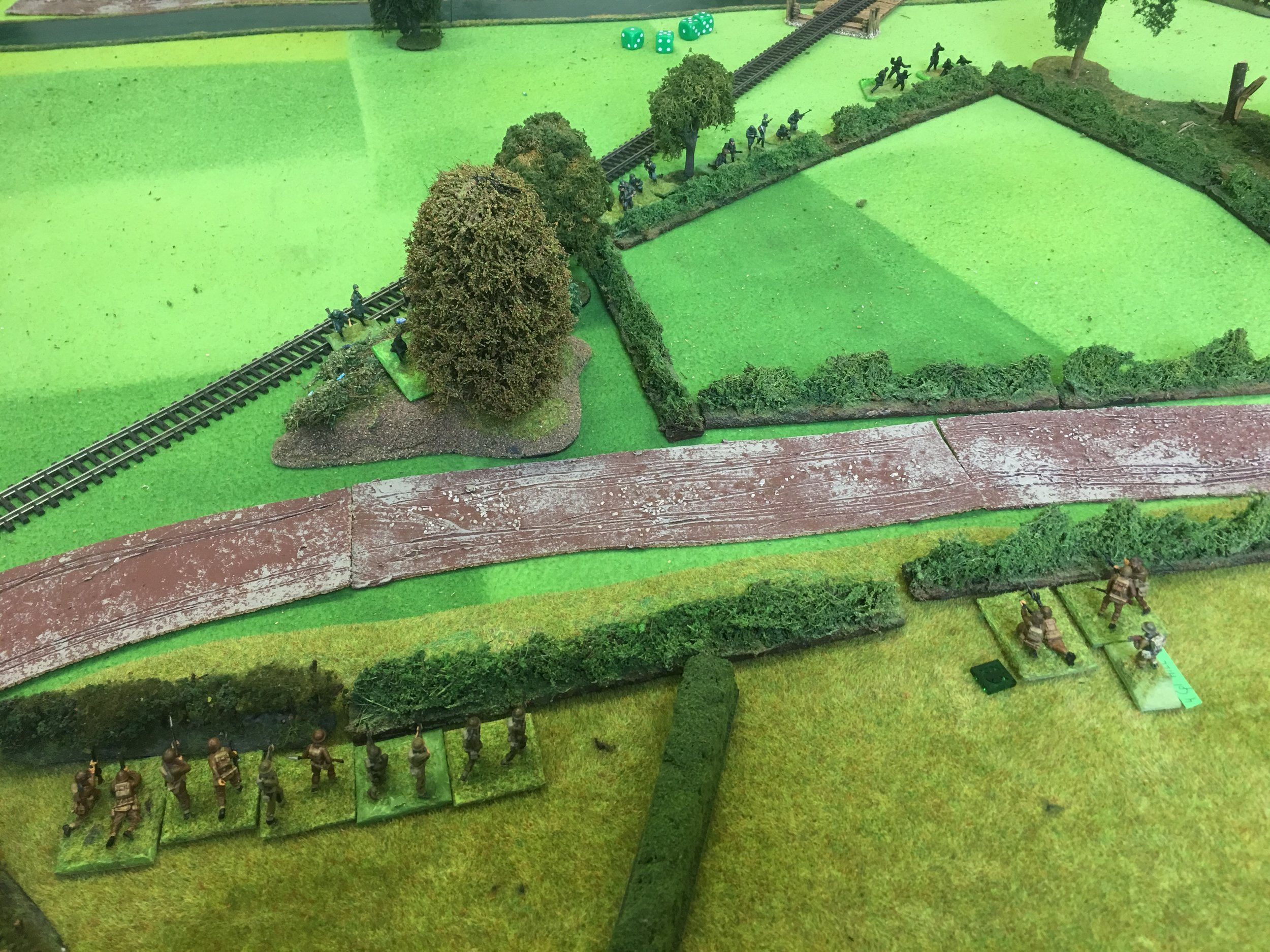 The small British detachment near Bexhill Road annoying the advancing Germans