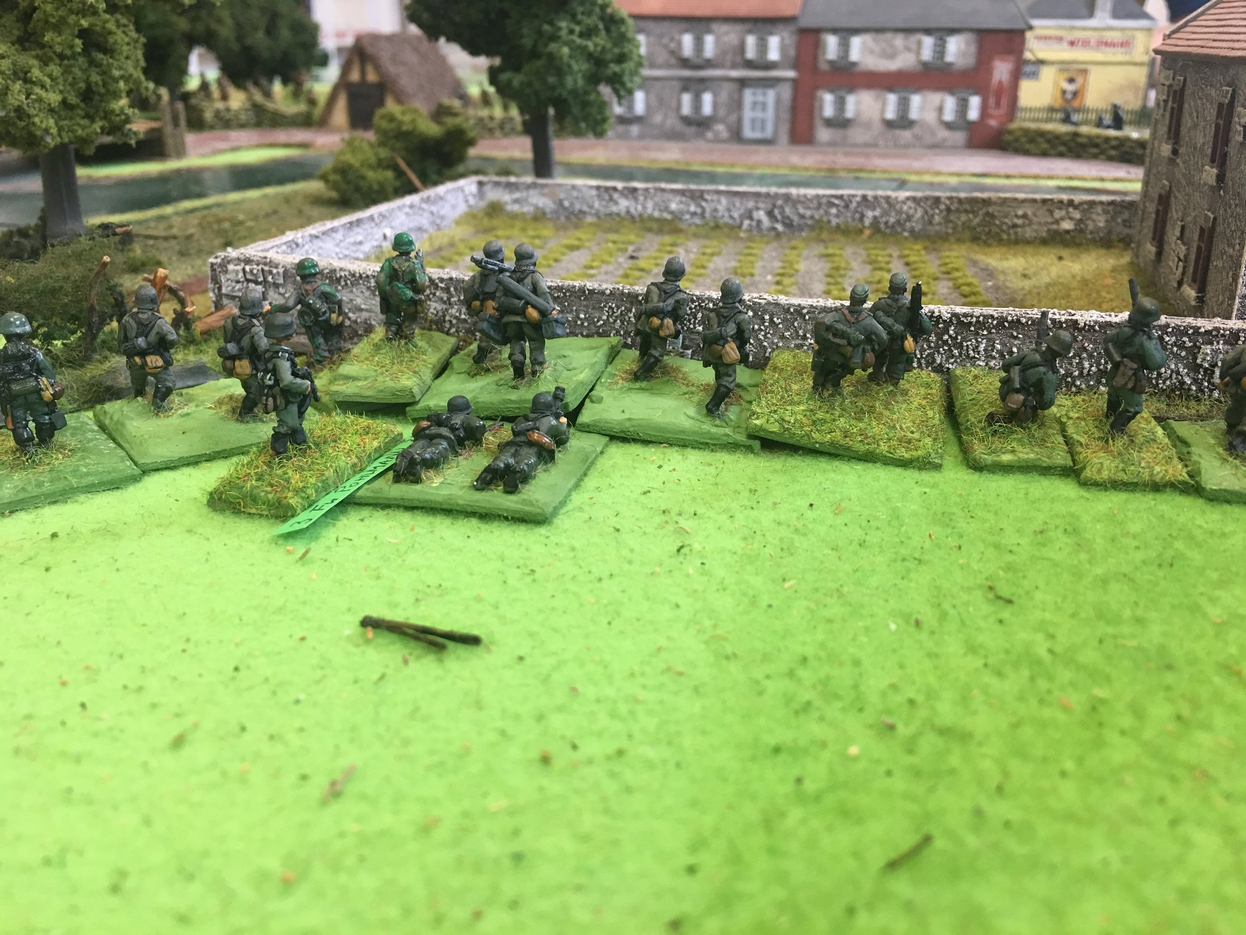 The Germans reach the outskirts of Pevensy, but have to cross the river