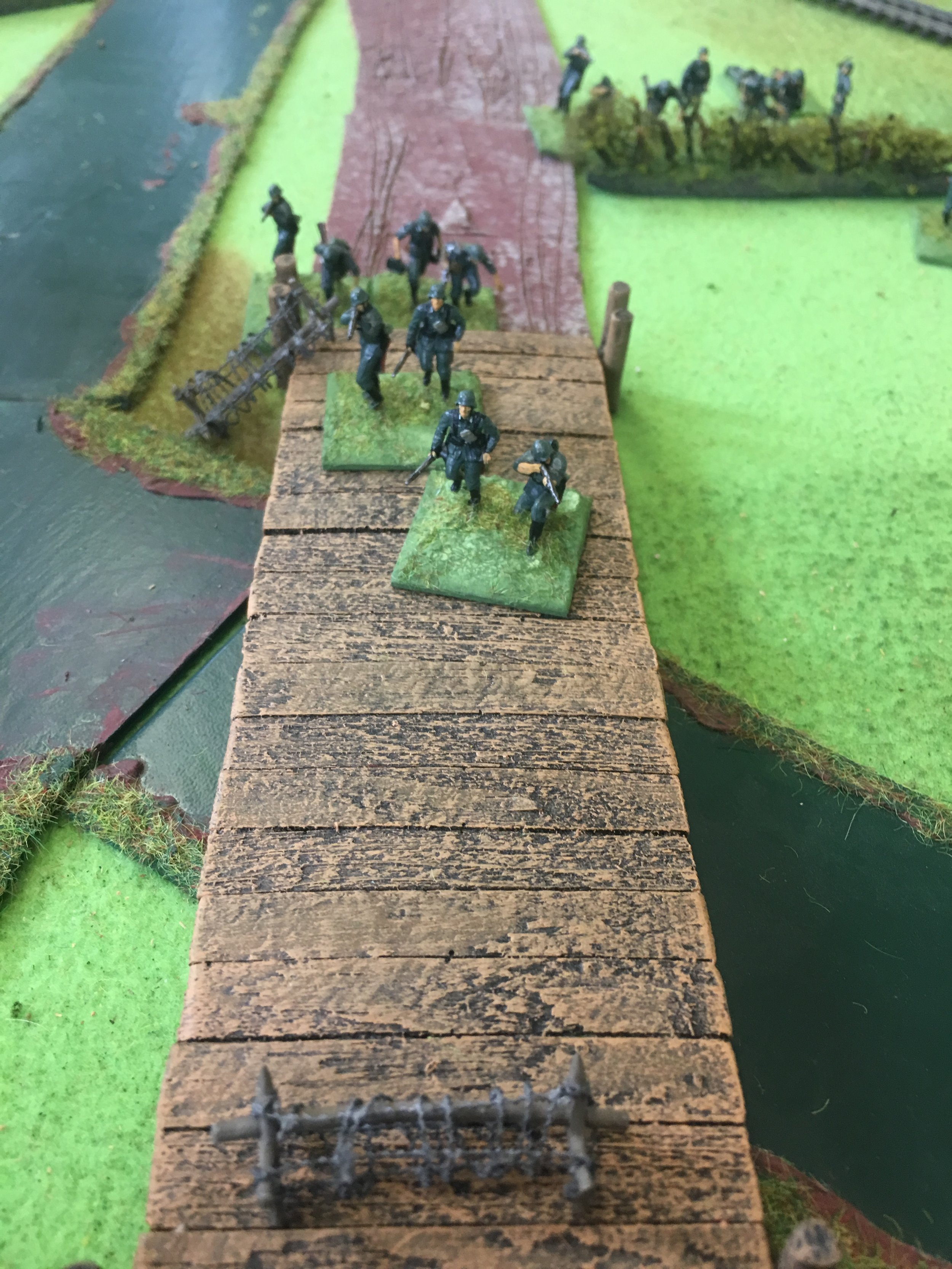 The Germans managed to establish a small bridgehead, but took heavy casualties