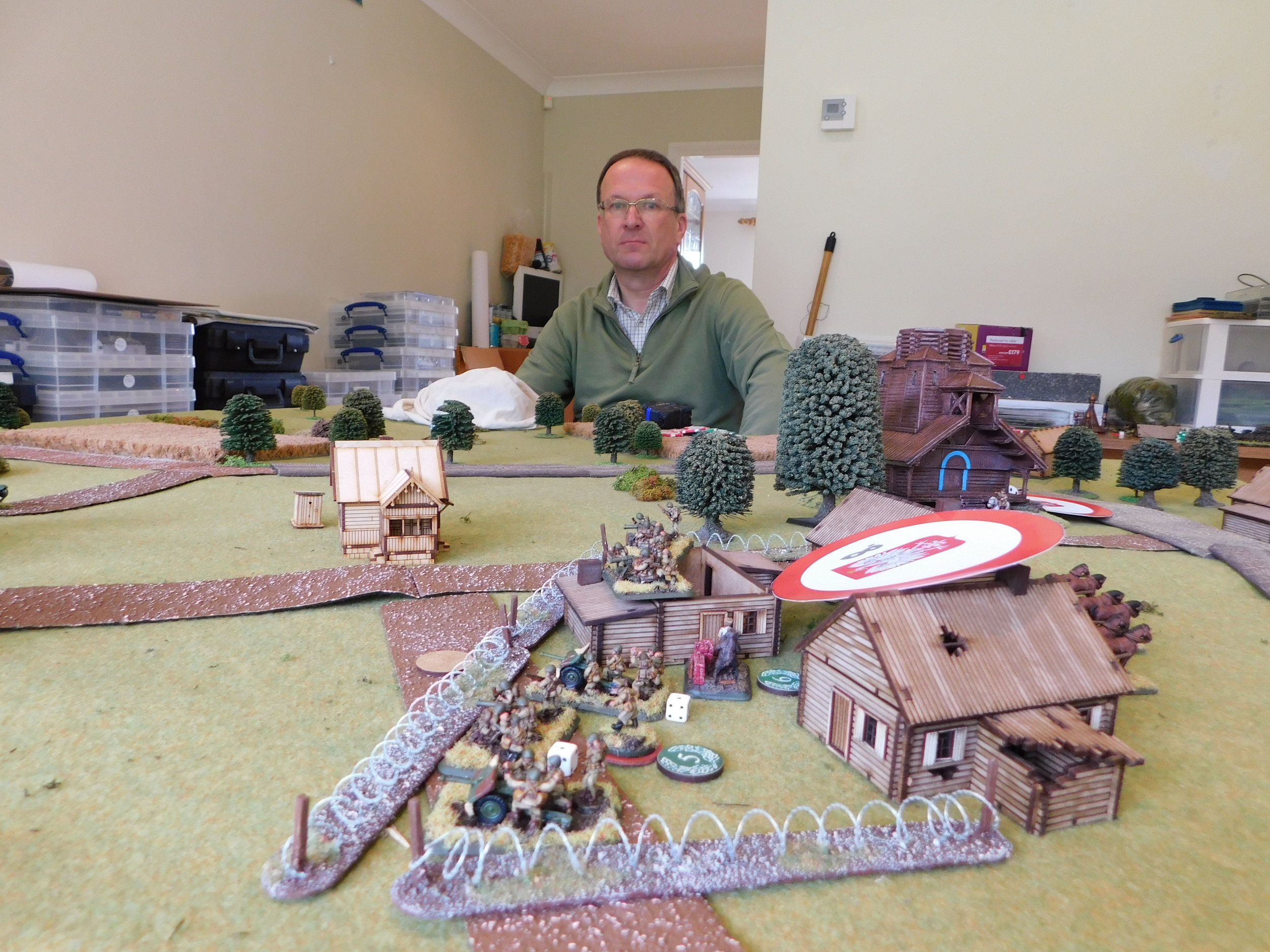 Polish strong point in the centre of the table. Comrade John looks on disapprovingly!