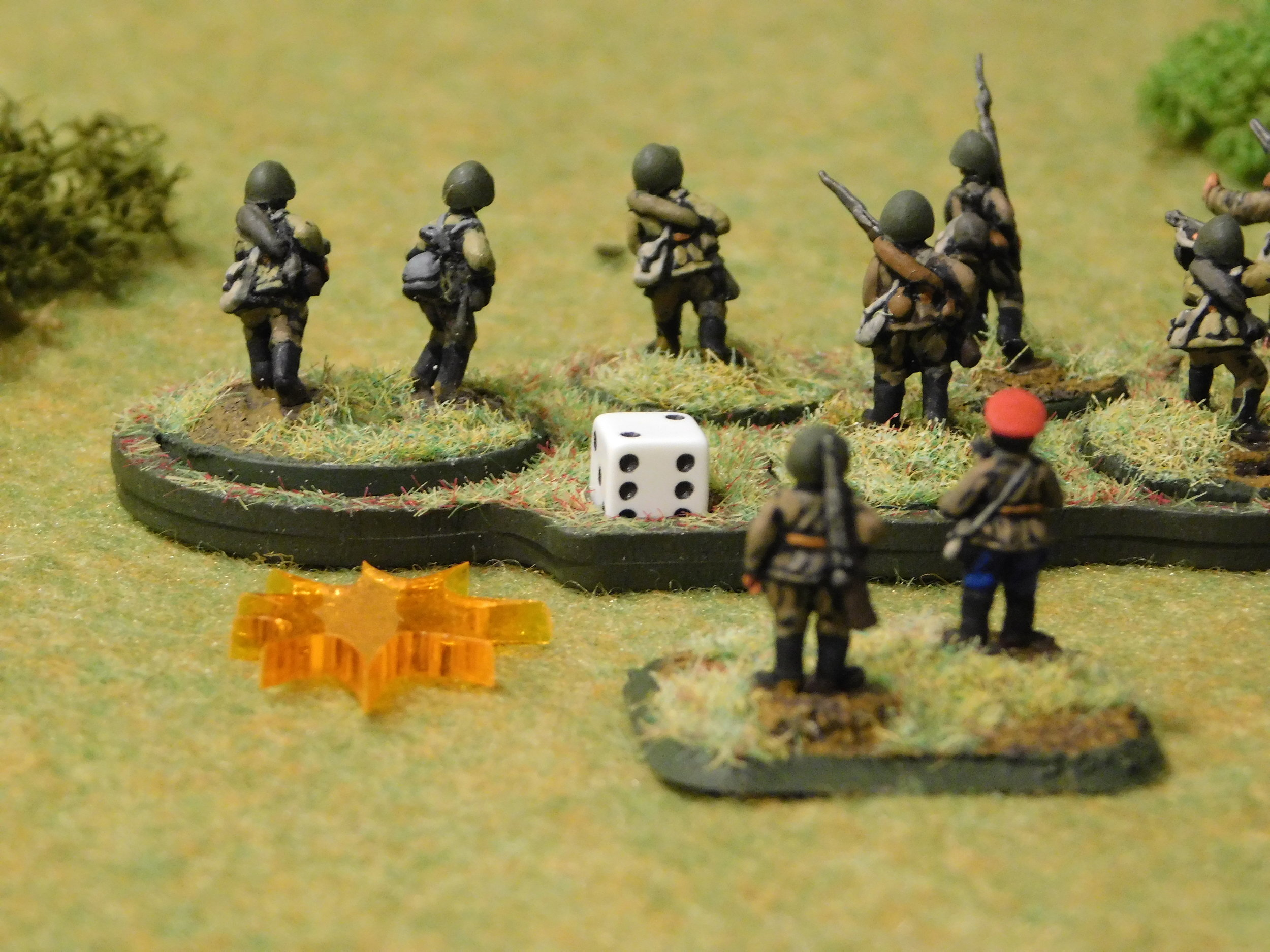 Commissar looks on as Russian troops are Pinned down
