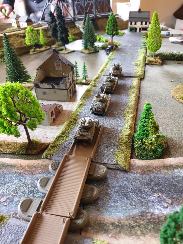 Troop of Shermans surge on