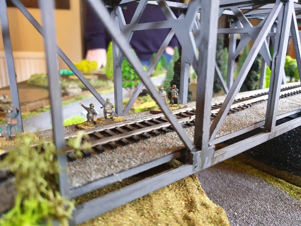 German infantry reach the bridge first