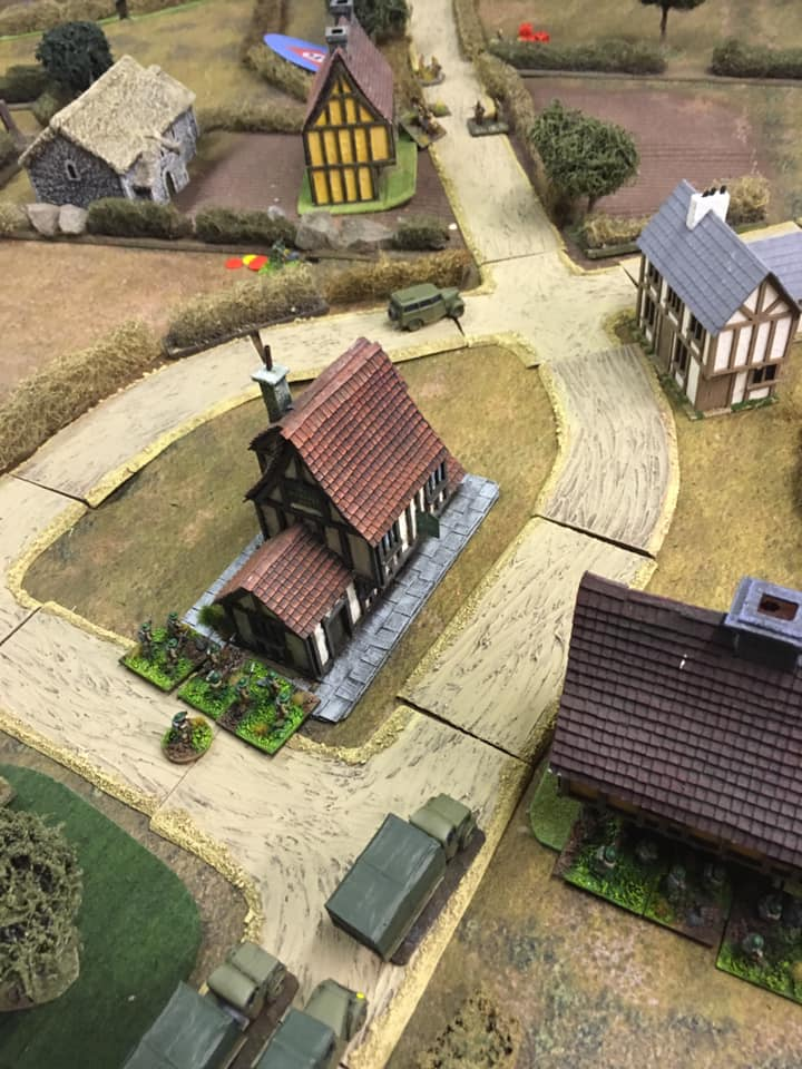 The Whippet Inn has a new lease of life in this scenario as the Red Lion.  It is the Home Guard HQ in the village and they are not going to let the invaders at their beer cellar.