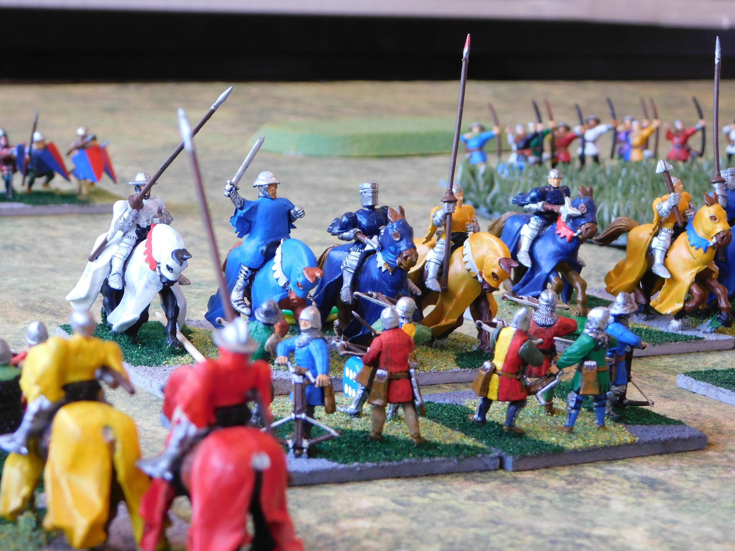 English Knights Charge My Crossbowmen