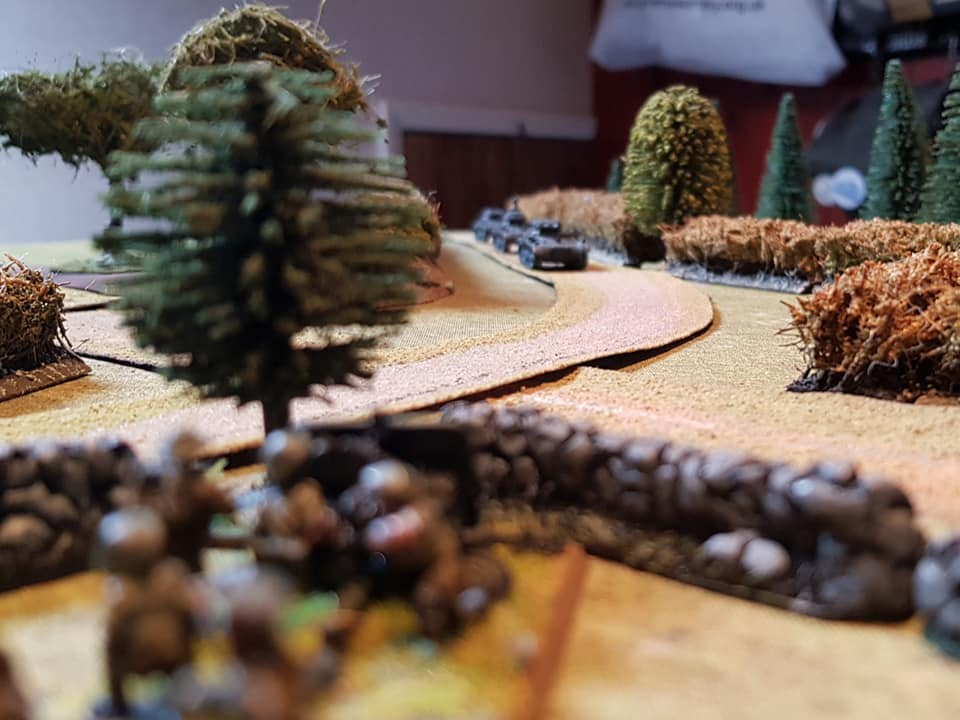 A lone 2pdr is spotted at distance by the German armoured column but the Brits are determined to sell their lives dear.