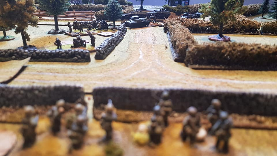 The view towards the Vickers and the AT gun vs Panzer I engagement.
