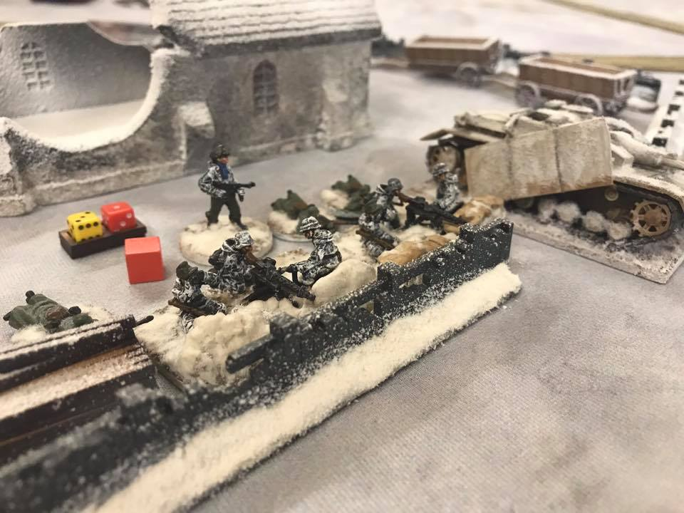 Company MMG team deployed at the church. It is Suppressed and took some Shock. It recovered later but the Soviet infantry had moved away to avoid contact.