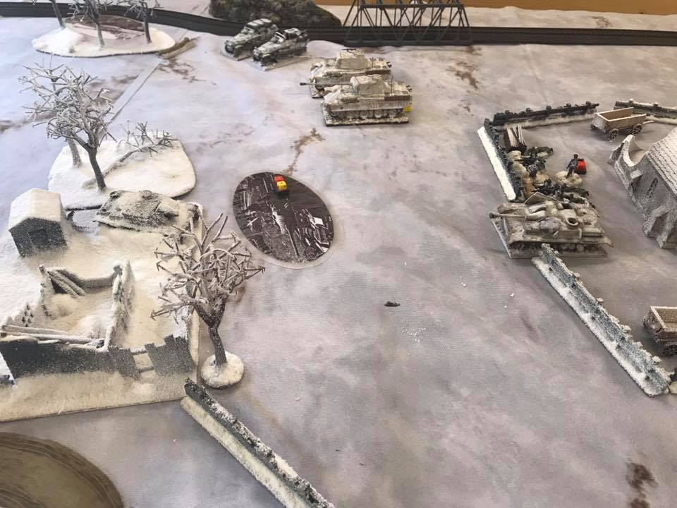 German Blinds move up, as the Panthers and Stummels pound the Soviet positions