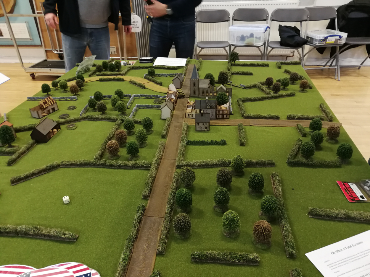 The battlefield from American lines