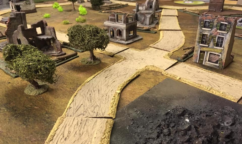 The town following relentless attacks from Stuka dive bombers.