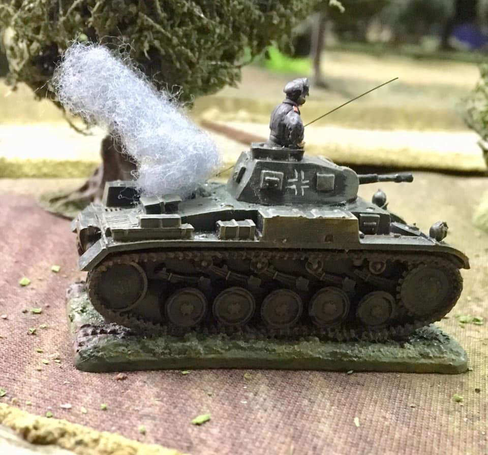 Richard's Armoured Big Man encounters a little engine trouble after a direct hit from a Polish AT gun