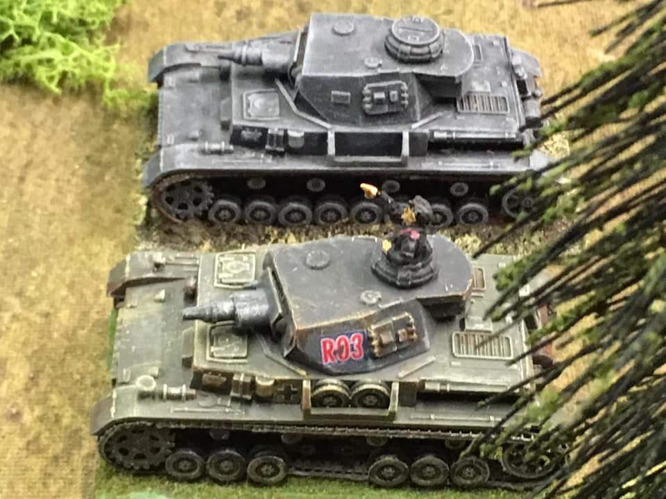 The support tanks of Panzer Platoon 2 arrive.