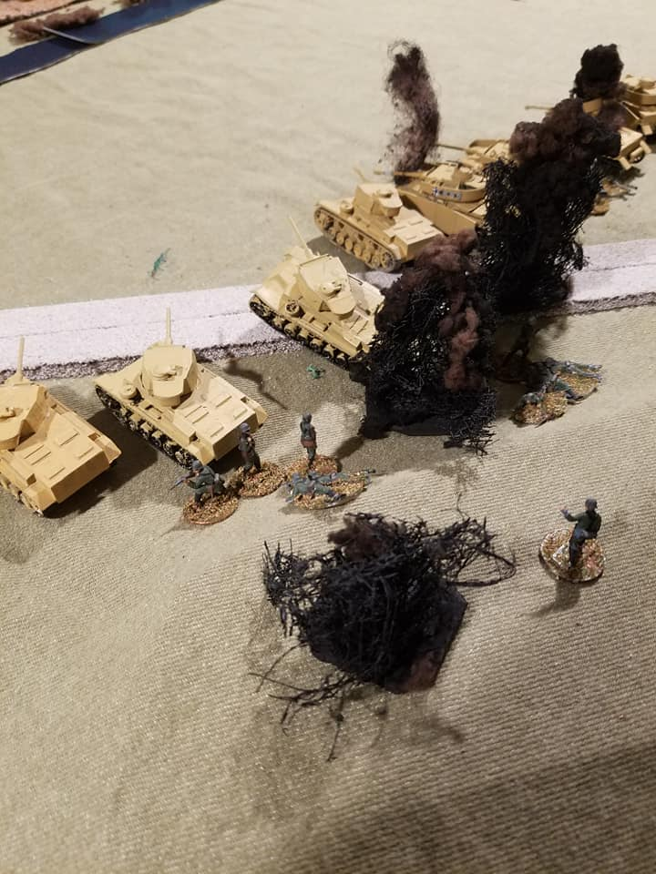 More direct hits on already shattered infantry
