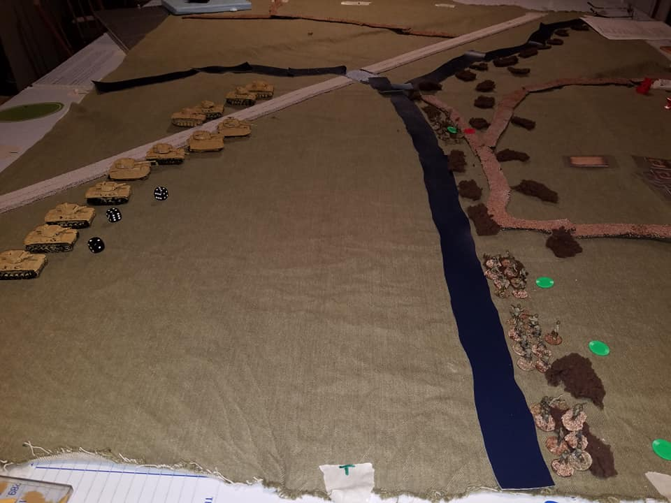 Overview of the start of the battle.