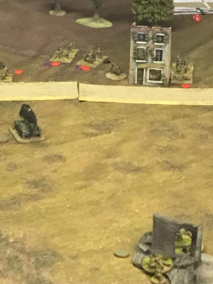 Human wave attack successfully sweeps the left flank.