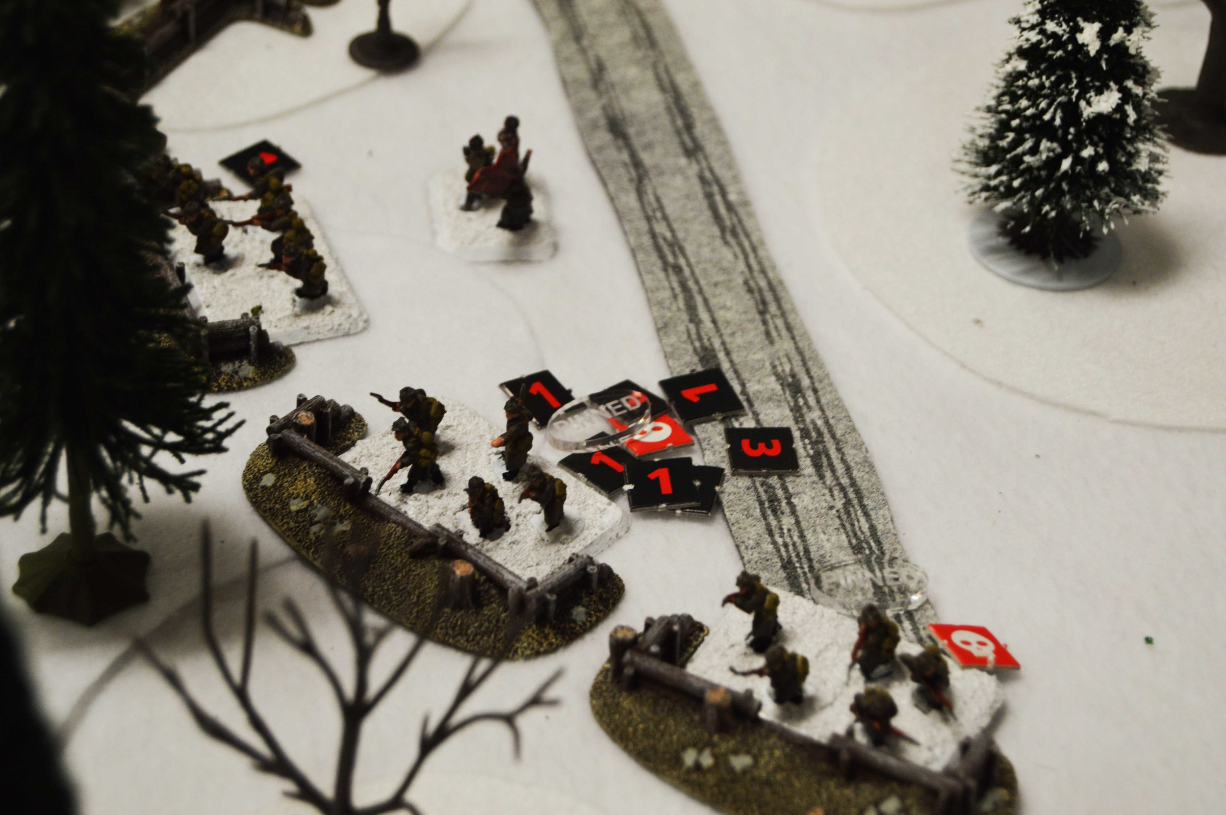 The Soviets hold the line, despite severe casualties and pinning fire.