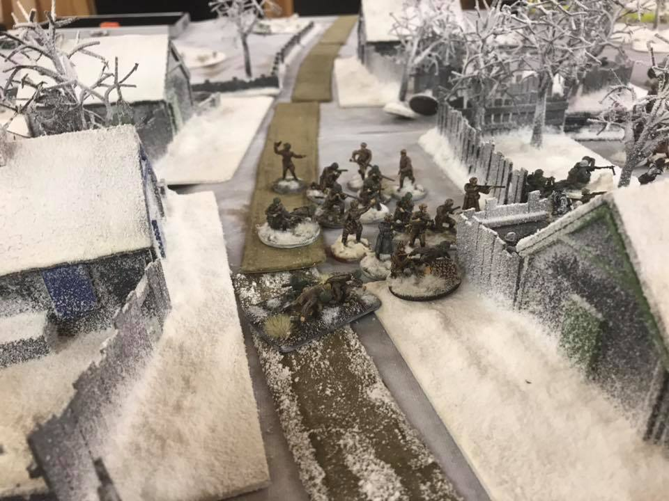 Soviets try to sneak an attack through the village.