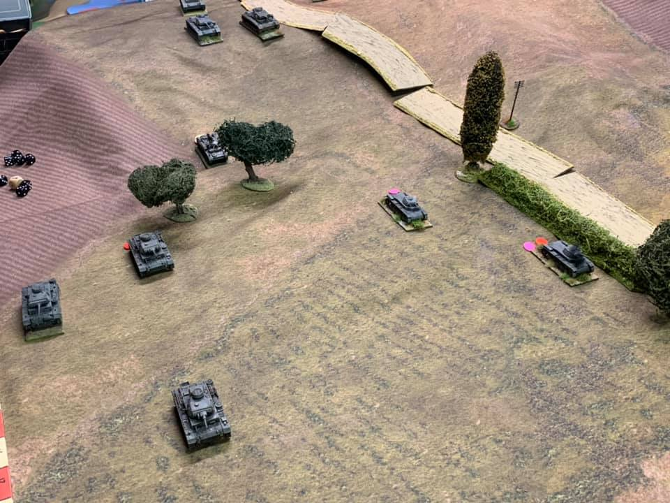 Panzers on the advance