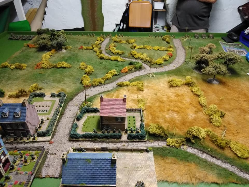 6 x 5 table. Germans defending the village against a British attack.