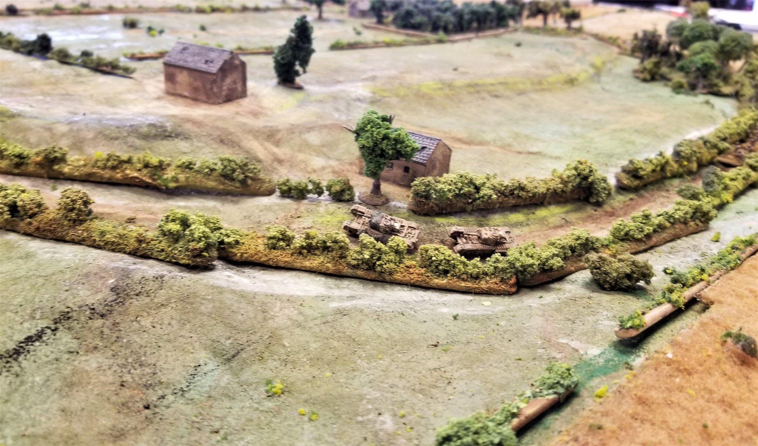 Churchills going down the sunken road