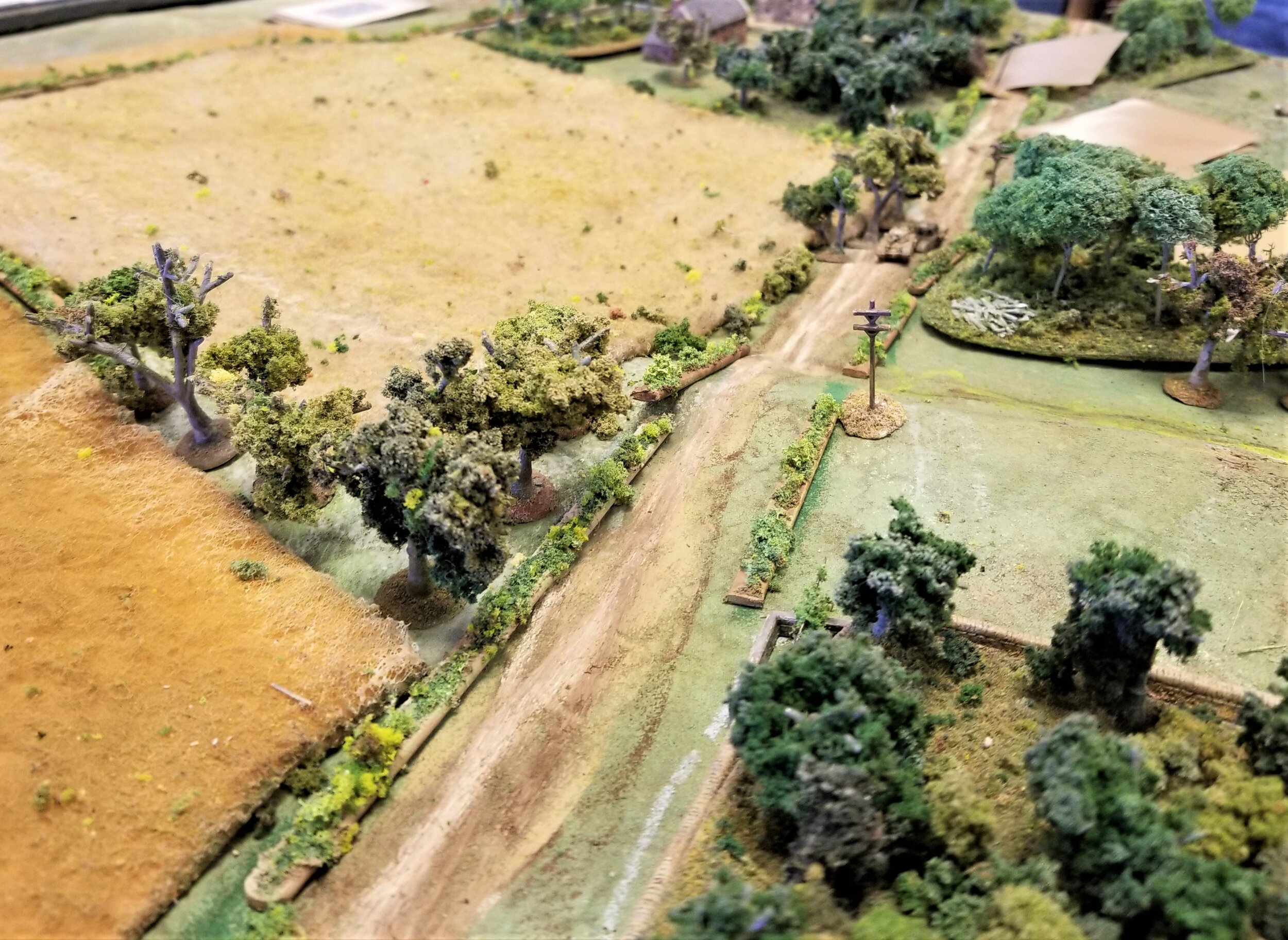 Churchills advance cautiously up the road