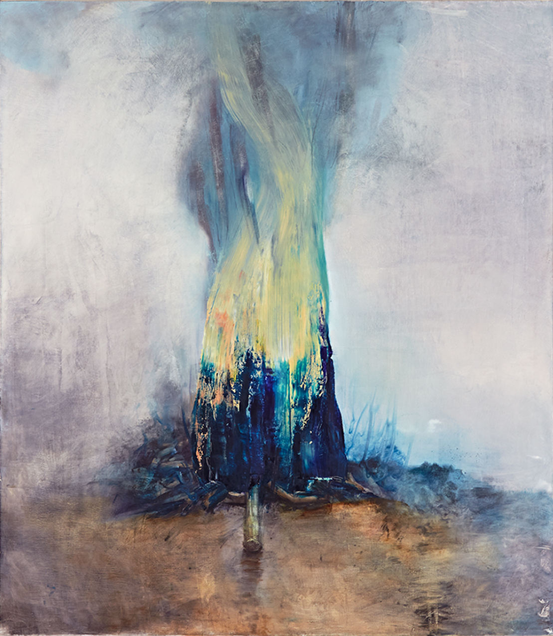 Flame / 2013, oil on canvas, 94 x 106 cm