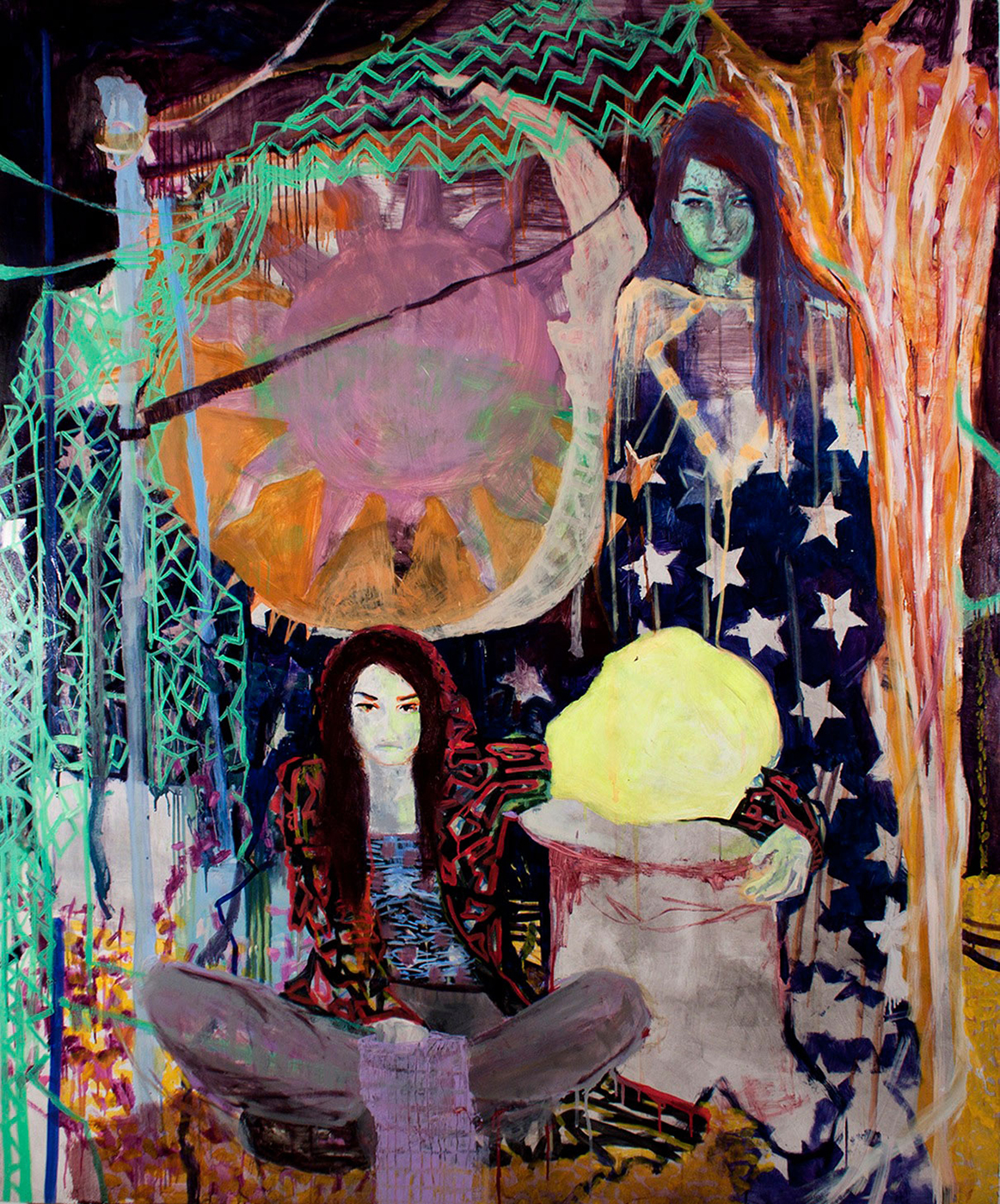 Possessives / 2010, oil on canvas, 200 x 165 cm