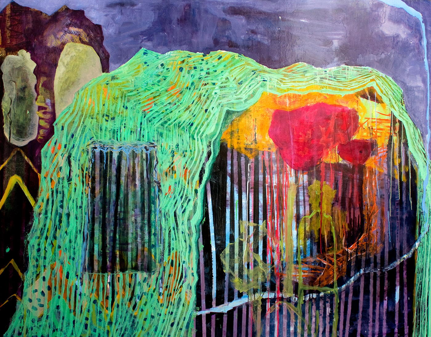 Tent / 2011, oil on canvas, 200 x 165 cm