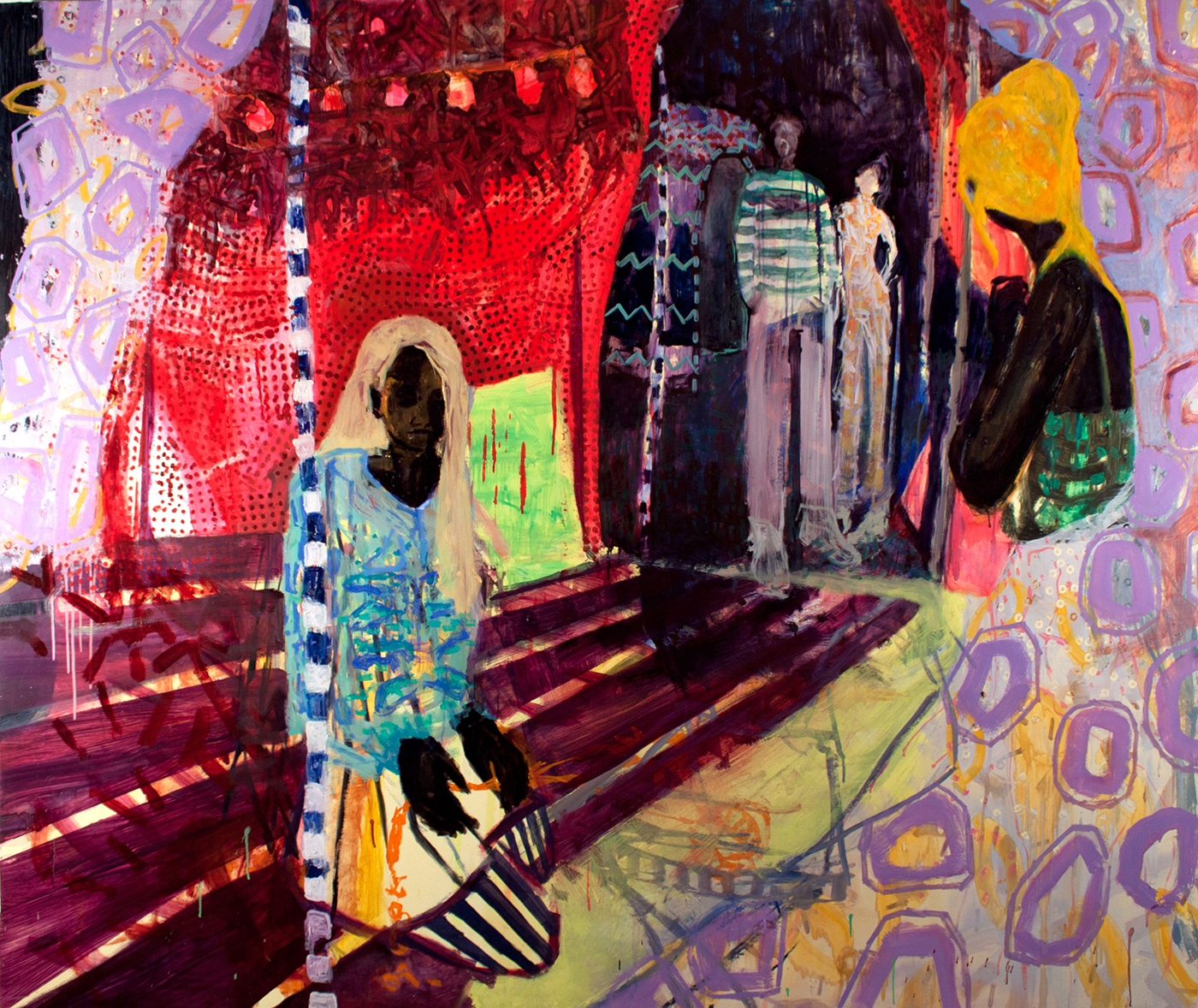 Visitors (Invaders) / 2010, oil on canvas, 200 x 165 cm
