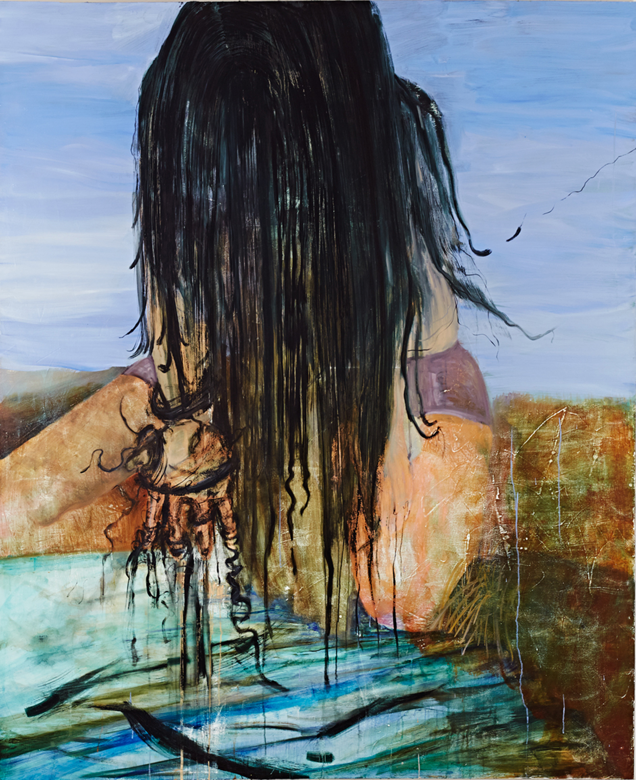 Knots / 2012, oil on canvas, 165 x 200 cm