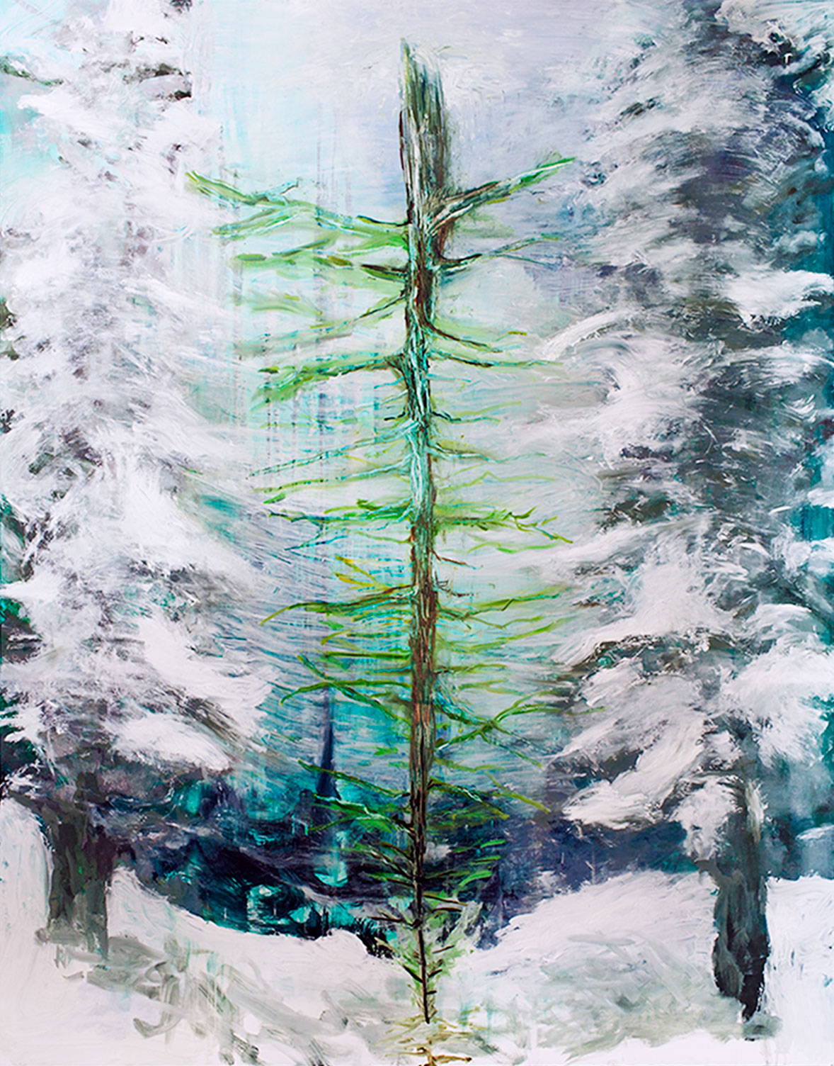 Mindfulness (Never not) / 2014, oil on canvas, 165x200 cm