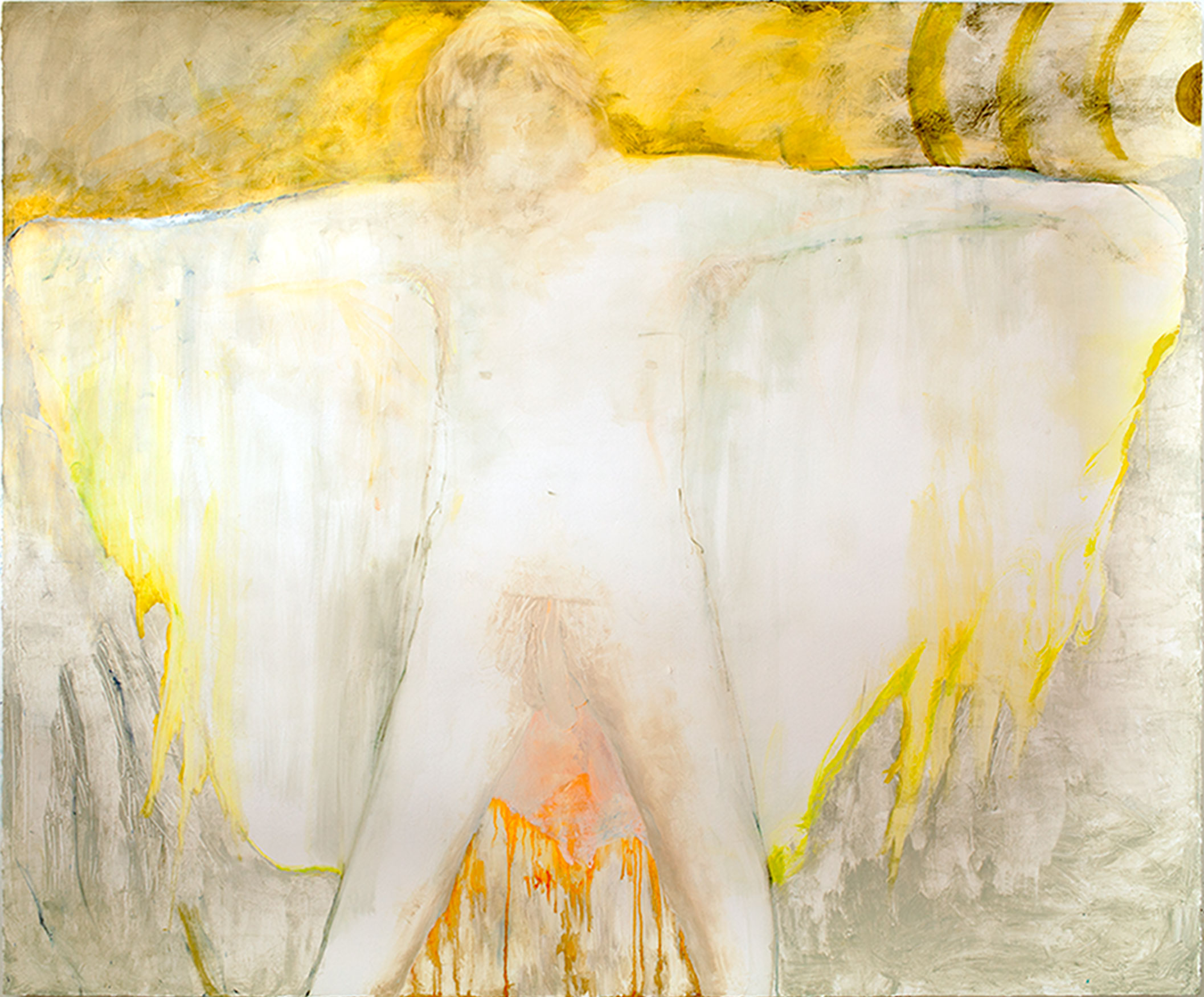 Shred sun rays / 2014, oil on canvas - 200 x 165 cm