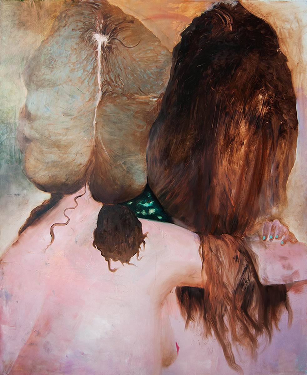 Secret center / 2014, oil on canvas, 162 x 144 cm