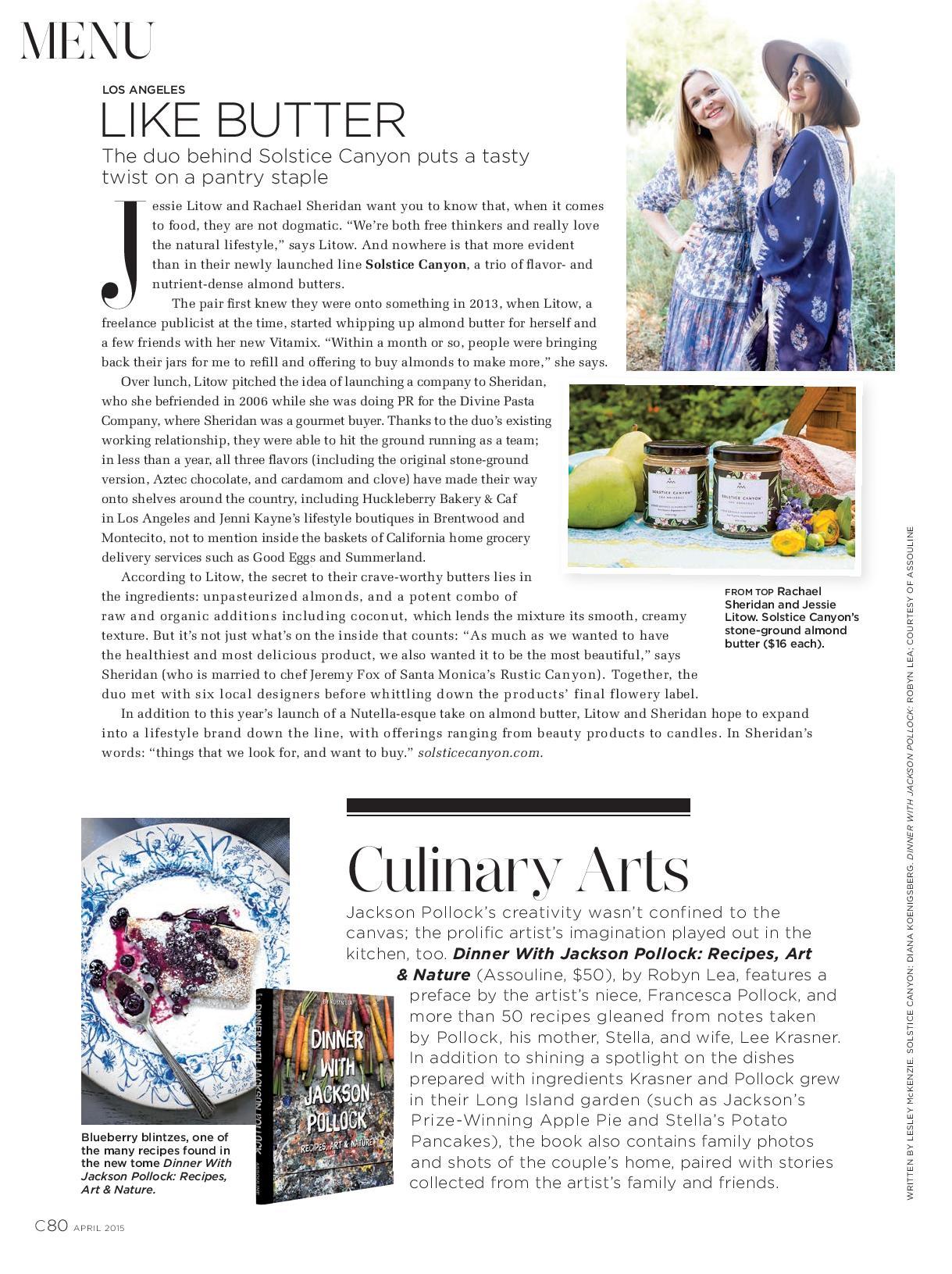 Culinary Arts,April 2015