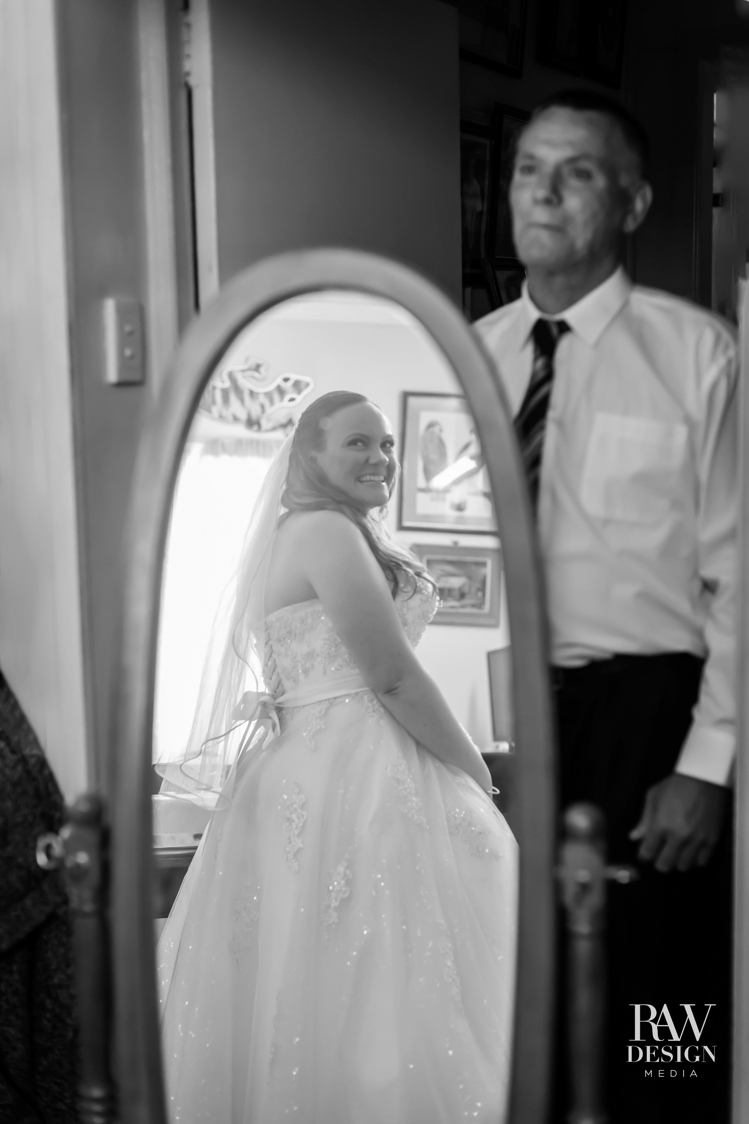 I love finding just the right moment to capture all of the overflowing emotions of a wedding day. This was just perfect. Katie turning around and noticing her dad standing back watching his beautiful daughter getting ready on her wedding day