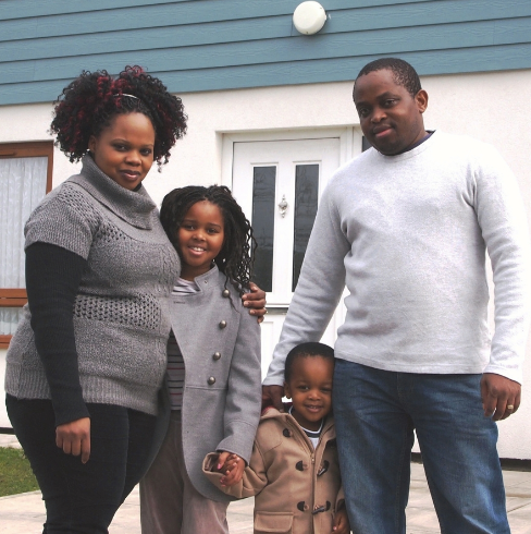 Ben Mpofu and family