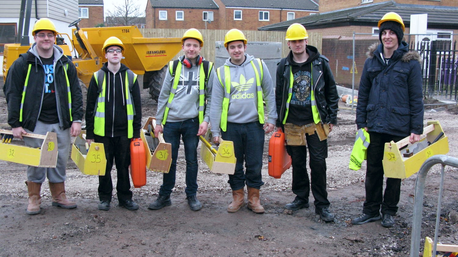 Joinery students from Hugh Baird College