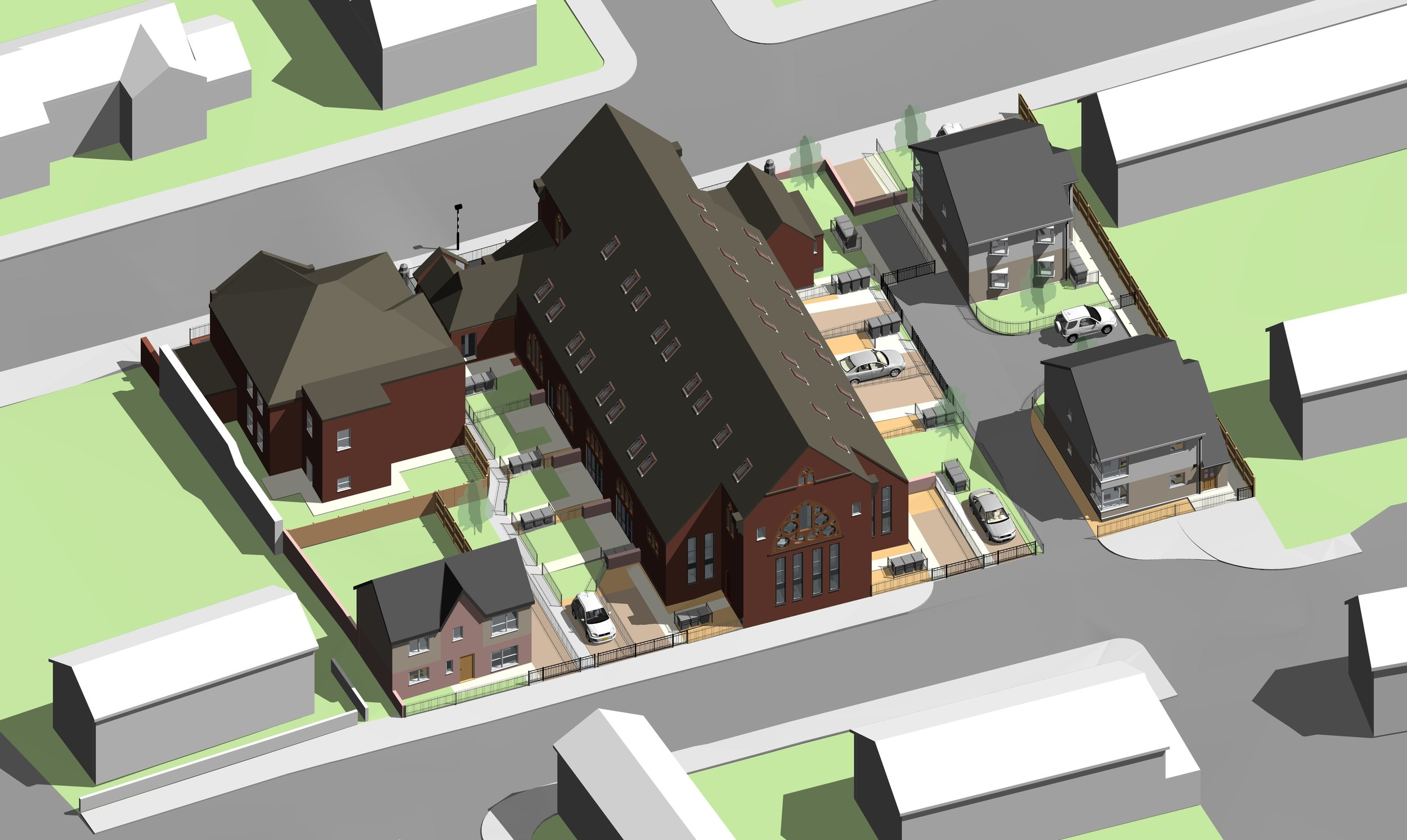 3D digital image of how the new development could look (viewed from Alt Street)