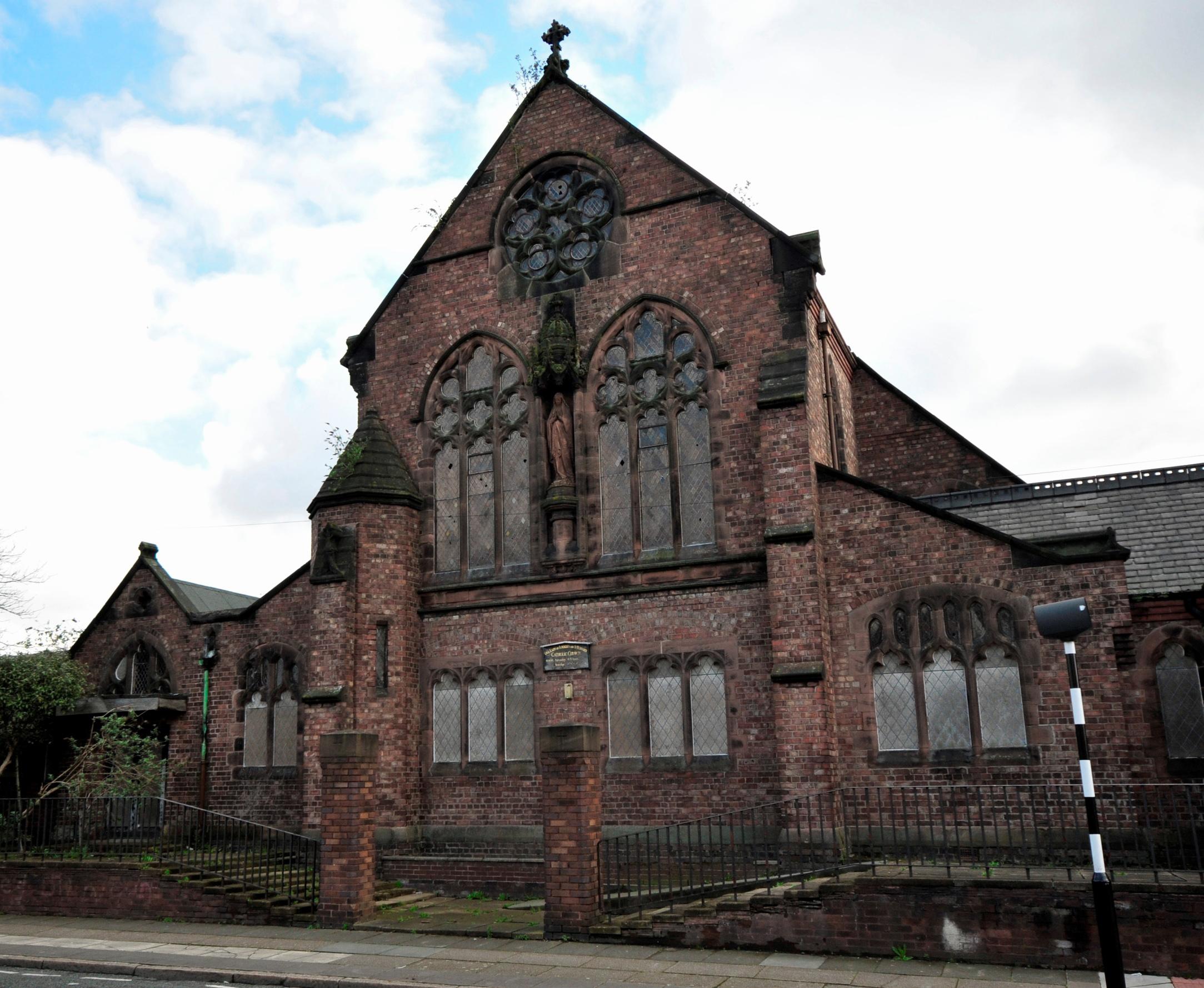 The disused St Bernard's Church on Kingsley Road