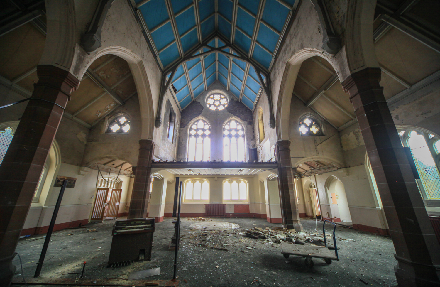 Inside the church, which will be converted into townhouses with the help of home partner 'sweat equity'